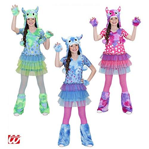 Widmann-WDM01606 Kostüm für Mädchen, Grün Hellblau, Rosa, -