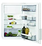 AEG SFB58831AE Kühlschrank/sparsamer Kühlschrank mit Gefrierfach/Klasse A+++/109 l Kühlraum/14 l 4-Sterne Gefrierfach/Einbaukühlschrank mit LED-Beleuchtungund Glasablagen/H: 88 cm/weiß