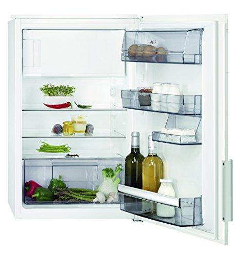 AEG SFB58831AE Kühlschrank / sparsamer Kühlschrank mit Gefrierfach / Klasse A+++ / 109 l Kühlraum / 14 l 4-Sterne Gefrierfach / Einbaukühlschrank mit LED-Beleuchtungund Glasablagen / H: 88 cm / weiß