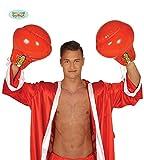 Guirca Aufblasbare Boxhandschuh Boxer Zubehör Erwachsene Karneval Fasching Scherzartikel