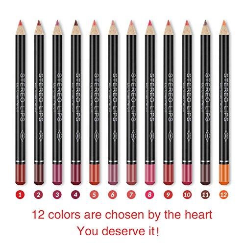 Crayon à lèvres crayon à lèvres 12 couleurs / ensemble étanche longue durée