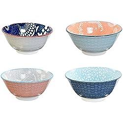 Tokyo Design Studio, Shiki Series, 4 Schalen Set , 4-tlg., Ø 15, Höhe 7cm, Porzellan aus Japan