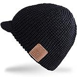 Rotibox Winter Outdoor Sport Trendy Bluetooth Beanie Hat Cap with Wireless Stereo Headphone