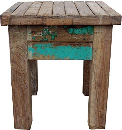 Guru-Shop Vieille Table Basse, Table Basse en Bois Recyclé - Model 17, Multicolore, 45x40x40 cm, Tables Basses Tables de sol