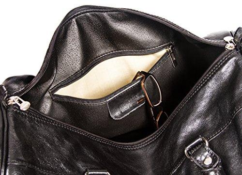 """SLINGBAG """"Roland"""" Sporttasche / Weekender / Reisetasche aus hochwertigem und dickem Leder / Farbauswahl (Dunkelbraun) Braun"""