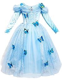 Le SSara Manga Larga Chica Princesa Cosplay Disfraces Fantasía Vestido de Mariposa