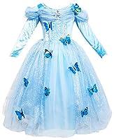 Le SSara Abito blu fantasia farfalla lunga manica ragazza principessa Cosplay CostumeCaratteristiche  Materiale: Chiffon, cotone, maglia  Abito da principessa farfalla.  Comodo e morbido da indossare, i vostri bambini avrà un aspetto carino e...