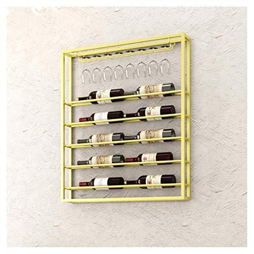 ZZSJC Weinregal, Weinregal, Rotwein-Becherhalter for den Haushalt, Weinregal zum Aufhängen, Weinglashalter, Weinständer, Becherständer (Color : Gold, Size : 75cm*10cm*100cm)