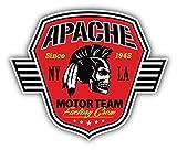 Apache Skull Motor Team Factory Crew De Haute Qualite Pare-Chocs Automobiles Autocollant 12 x 12 cm