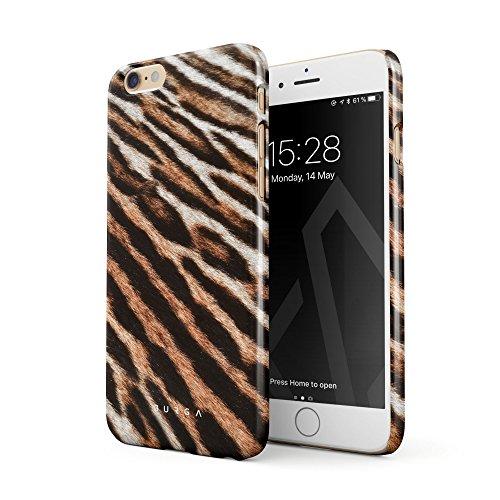 Burga cover per iphone 6 / 6s, tigre pelliccia wild cat savage wild tiger fur pattern design sottile, guscio resistente in plastica dura, custodia protettiva