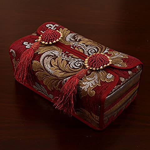 Tissue box cover the table/ embossed napkin/Car tissue box/ hanging spike box-D 24x12cm(9x5inch)