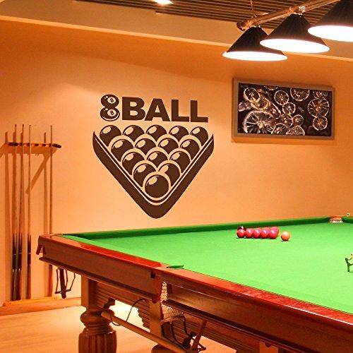 wandaufkleber 3d schlafzimmer Billiard Room Wall Decal Art Sticker Unique Playroom Sticker Snooker Sports Vinyl Art Wall Murals(32
