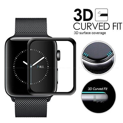 Apple sehen 3D Displayschutzfolie, efanr Schutzfolie blasenfrei Ultra HD Full Cover Tempered Glas für Apple Watch Series 1/238mm/42mm Smart Watch (Armorsuit Xperia)