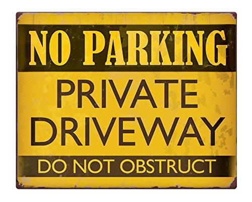 no-parking-private-driveway-non-ostruire-203-x-254-cm-stile-vintage-metal-sign-231