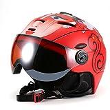 Asvert Skihelm mit Brille Unisex Erwachsene Wintersport Warm Winddicht Snowboard Helm Visier Premium Helm(M/L, 6 Farben zur Auswahl)