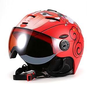 asvert skihelm mit brille unisex erwachsene wintersport warm winddicht snowboard helm visier. Black Bedroom Furniture Sets. Home Design Ideas