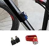LanLan Serrure de Frein à Disque antivol Portable Mini-Disque de sécurité pour véhicule électrique de vélo de Montagne Red
