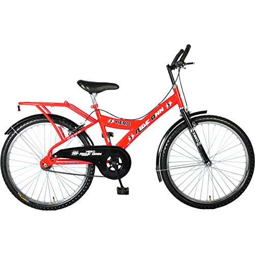 Hero Ride On 24T Single Speed Mountain Bike, Men's (Red)