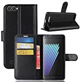 Casefirst Doogee X30 Case Luxury PU Leather Wallet Flip Protective Skin Case Cover with Card Slots and Stand for Doogee X30 Black