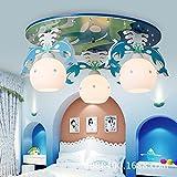JJ moderno LED lámpara de techo de madera creativa delfines para niños y niñas a salas de estudio Cartoon niños lámpara de techo de diámetro 55 cm* Alto 27cm,220v-240v