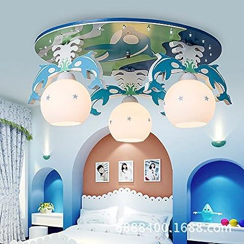 LbcvhStanza dei bambini cartoon LED luci a soffitto in legno