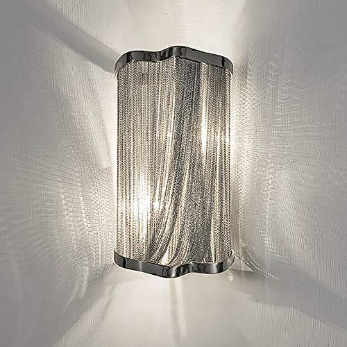 KTOL Modern Einfach Wandleuchte Für Indoor, E14 Fransen Wandleuchte Kreatives design Bett Wandbeleuchtung Dekoration Wand-leuchten-Chrome - Chrome Zeitgenössische-bett