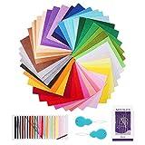 BOSIS Filzstoff, 41 Farben Bastelfilz Farbig Filz Blätter Polyester 15 * 15 cm Felt Fabric Filzplatten zum DIY Handwerk Nähen Projekte Patchwork