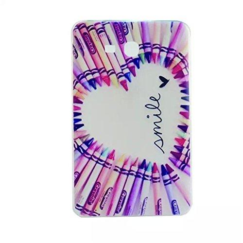 FEING Soft Schutz Schale Hülle TPU Schutzhülle Tasche für Samsung Galaxy Tab 3 Lite 7.0 SM-T110/T111/T113/T116 (Nicht für Tab 3 7.0)- Design TABTPU 03, Stylus x1 & Displayschutzfolie x1 & Reinigungstuch x1 enthalten