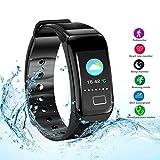 Damigram Fitness Tracker HR, Activity Tracker mit Pulsmesser Uhr, wasserdicht IP67 Smart Armband mit Kalorienzähler Uhr Schrittzähler Schlaf Monitor für Kinder Frauen Männer Android und ios