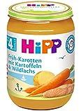 HiPP Früh-Karotten mit Kartoffeln und Lachs, 6er Pack (6 x 190 g)