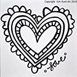 PaintaDoodle 12 x 12 Heart with Love Pai...