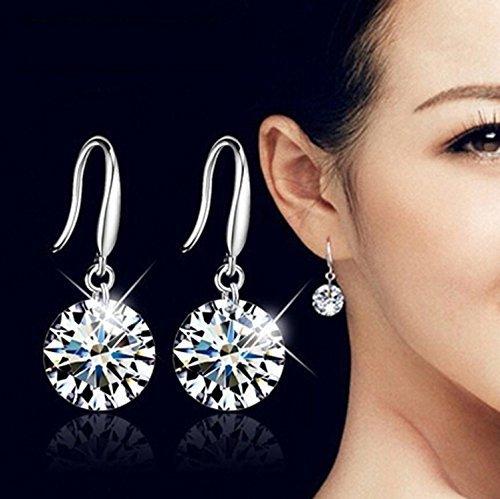 Lily jewelry, in argento sterling 925con cristalli swarovski elements orecchini di goccia