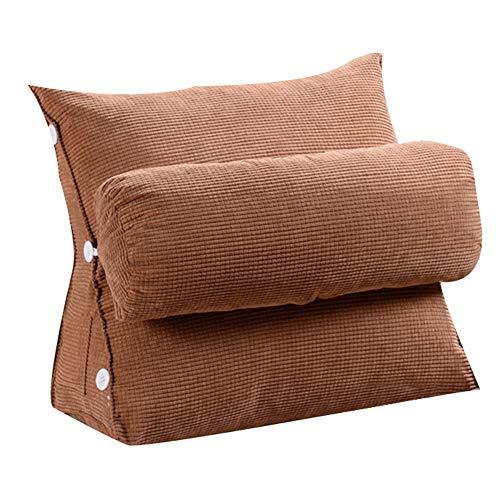 Rh+ cuscino divano cuscino in bambù antracite con cuscino centrale (3 modelli e 2 misure) per soggiorno (modello : b, dimensioni : 45 * 45 * 22cm)