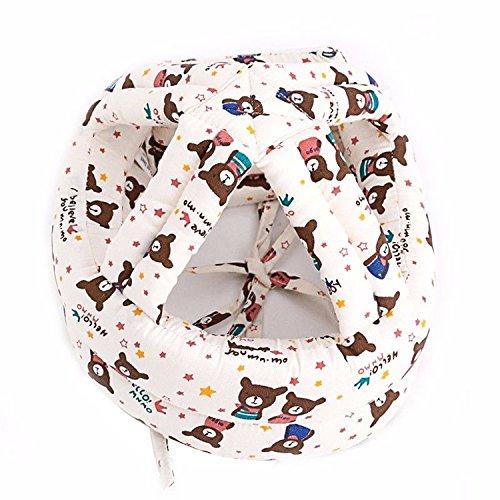 Casco de seguridad, anticolisión sombrero bebé para bebé suave cómodo cabeza protección de seguridad ajustable beige beige Talla:M