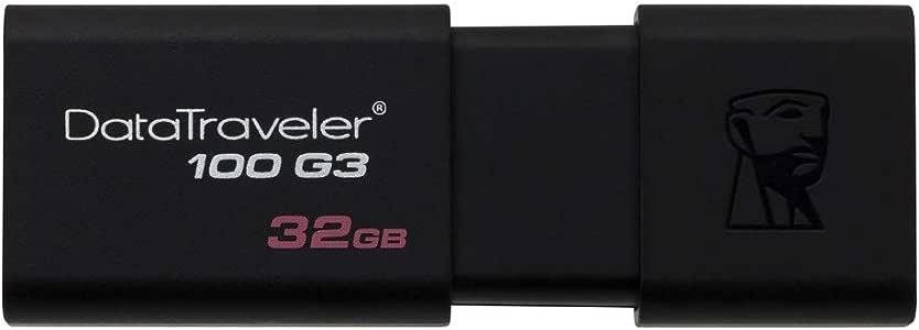 Kingston DataTraveler 100 G3-DT100G3/32GB USB 3.0, PenDrive, 32 GB, 1 Pezzo, Nero