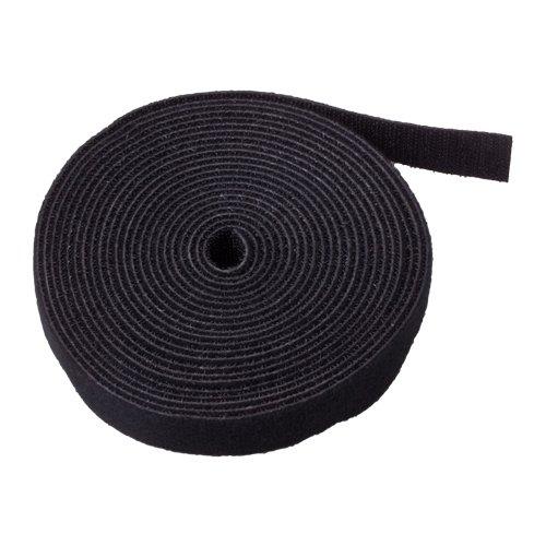 Panduit-snap (TNP Haken und Loop Tape Gurt Kabelbinder Verschluss–Sticky selbstklebende Nylon Stoff Rolle Wrap 1,9cm breit 5Meter wiederverwendbar für Schneiden Custom Länge Kordel Draht Verschluss, CECOMINOD005779)