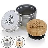 Eberbart Reise-Bartbürste mit Wildschweinborsten – Ideal für die tägliche Bartpflege (Aludose)