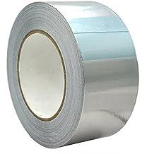 WINGONEER Cinta adhesiva de sellado profesional para cinta de papel de aluminio Longitud 30m / 32yd Ancho 50mm / 0.02yd Grosor 0.06 mm