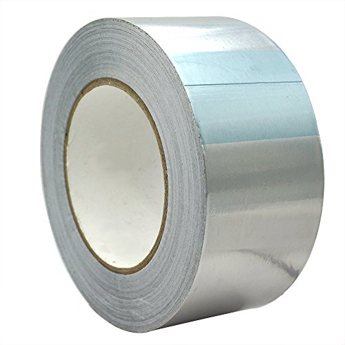 TiGree 25m x 50mm Aluminiumband Aluminium Klebeband Aluminiumklebebänder selbstklebend, 1 Rolle in silber