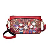 SmrBeauty Donna Borse, Hot Selling Borsa a Tracolla Singola Crossbody Pochette a Busta Ragazza, Forest Girls Zipper Single Shoulder Tracolla Borsetta Borsa Big Promotions (Rosso)