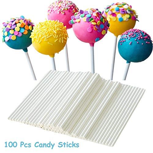 100 Stücke Pop Sucker Sticks Kuchen Papier Lolly Lollipop Süßigkeiten Schokolade Modellierform Form