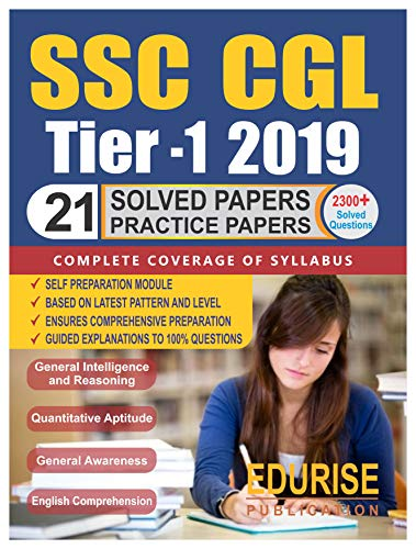 SSC CGL Tier 1 2019 Solved Papers Practice Papers: Vol. 1