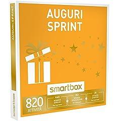 Idea Regalo - Smartbox Cofanetto Regalo - AUGURI SPRINT - 820 attività a scelta tra pause enogastronimiche, wellness o sportive