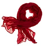 DOLCE ABBRACCIO CRAZY MAMA Damen Schal Halstuch Tuch Damenschal aus Baumwolle MASH Schals Ganzjährig Frühling Sommer (Rot)