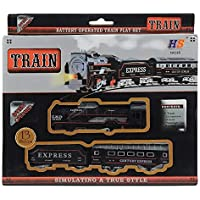 ErosEkart Battery Operated Black Train Toy Set for Kids, Big Size Train Set for Kids | Bump and Go Musical Toy Train