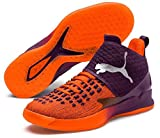 Puma Rise XT Fuse 1 Handballschuhe Orange Shocking Orange-Shadow Purple White, 40 (UK 6.5)