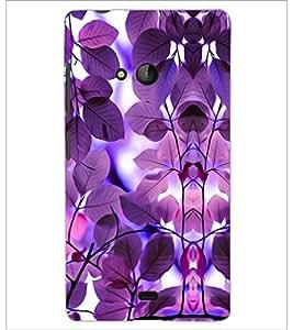 PrintDhaba Purple Leaves D-1178 Back Case Cover for MICROSOFT LUMIA 540 (Multi-Coloured)