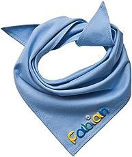 Mein Name Halstuch, Hellblau mit Namen Unisex - 45x45cm, Dreieckstücher