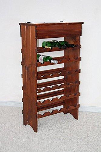 Weinregal Flaschenregal 30 Flaschen - Holz Fichte massiv Kirsch