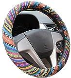 Mayco Bell 2016 Ethnischer Stil Grob Flachs Tuch Auto Lenkradhüllen Fahrzeug Lenkradabdeckung Anti-Rutsch Und Schweiß Absorption Auto Wrap Abdeckung (D)